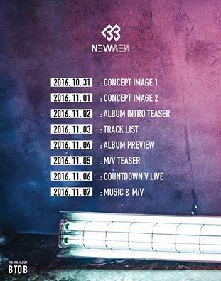 BTOB comeback schedule