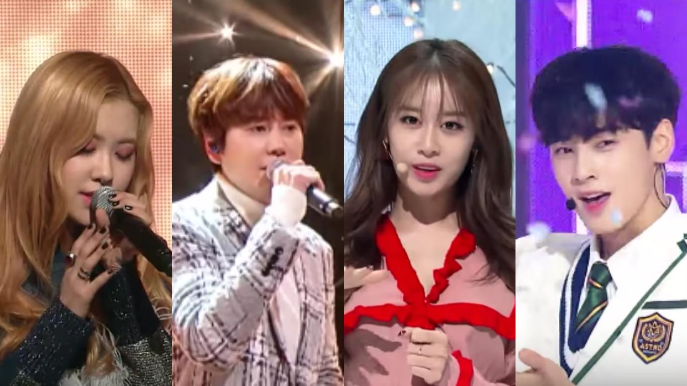 BLACKPINK Rose Super Junior Kyuhyun T-ara Jiyeon ASTRO Cha Eun Woo
