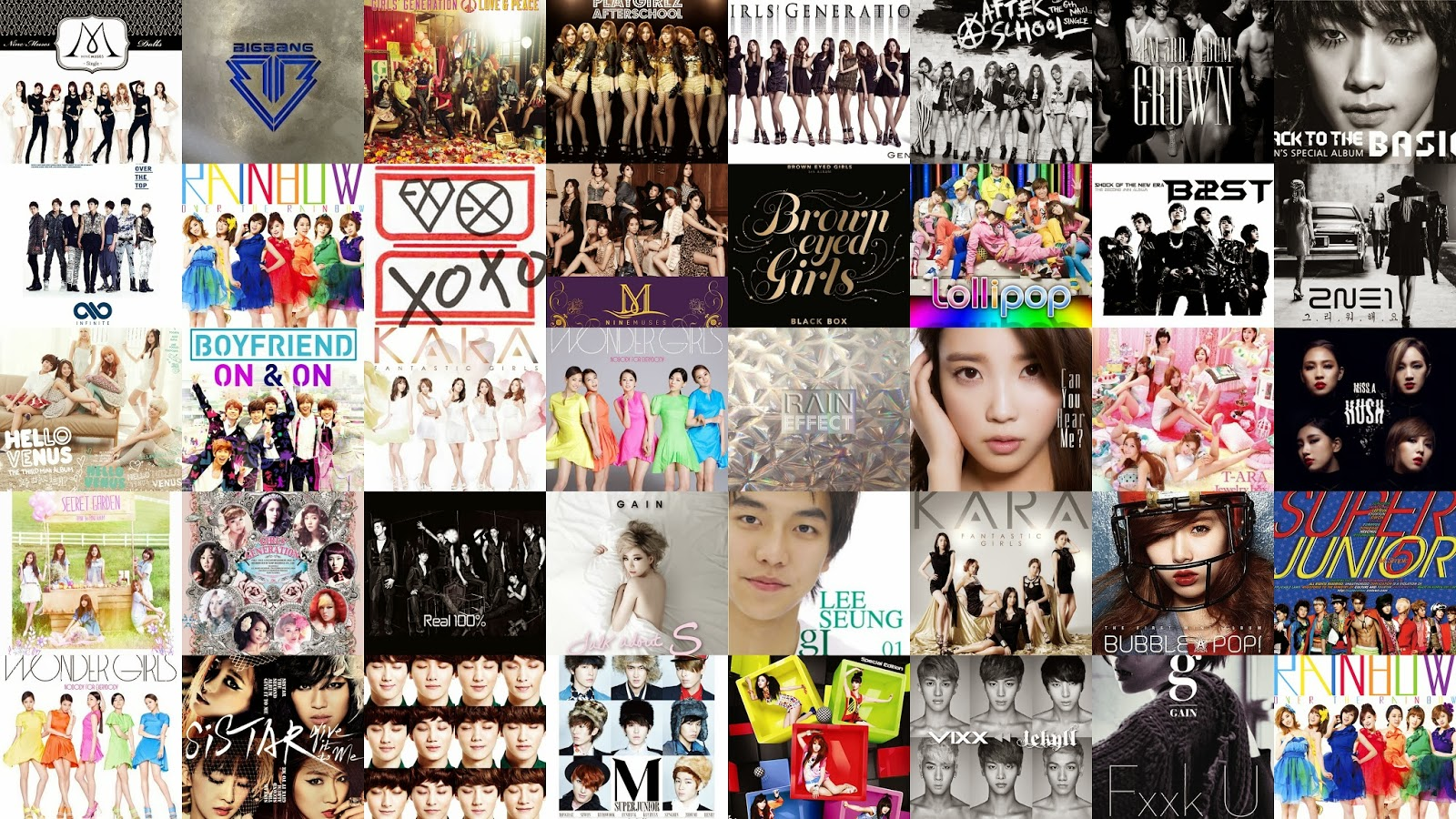 Shinee Dream Girl Wallpaper Quiz Can You Match These K Pop Album Covers To The