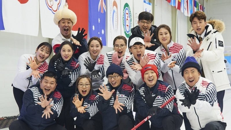 """""""Infinite Challenge"""" Enjoys Boost In Ratings For Olympic Women's Curling Team Special   Soompi"""
