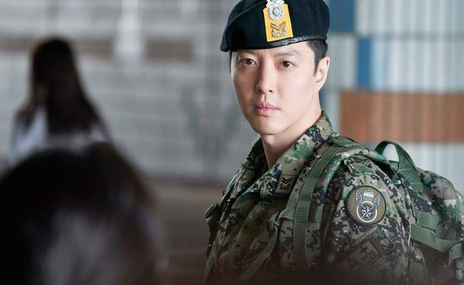 Lee Dong Gun Transforms Into A Stern Soldier For Sketch