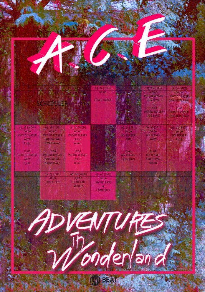 """- ace - A.C.E Kicks Off Comeback Teasers With Schedule For """"Adventures In Wonderland""""  - ace - A.C.E Kicks Off Comeback Teasers With Schedule For """"Adventures In Wonderland"""""""