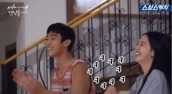 "- Ahn Hyo Seop Shin Hye Sun 1 - Watch: Shin Hye Sun And Yang Se Jong Have Fun Filming Silly And Romantic Scenes In Making Video For ""30 But 17""  - Ahn Hyo Seop Shin Hye Sun 1 - Watch: Shin Hye Sun And Yang Se Jong Have Fun Filming Silly And Romantic Scenes In Making Video For ""30 But 17"""