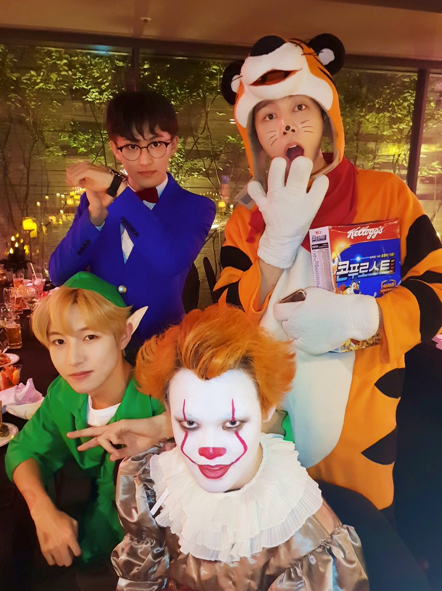 Nct #halloween #엔시티 #할로윈 #happy_halloween_eve#ch_nct #채널nctsubscribe for more. Sm Artists Amaze With Costumes Once Again At This Year S Halloween Party Soompi