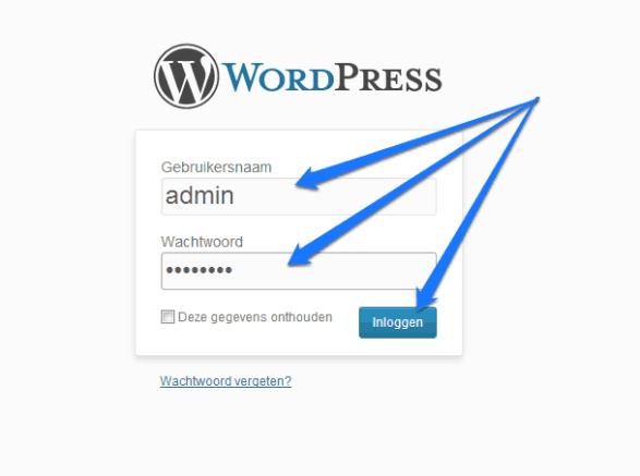 Inloggen bij jouw WordPress website