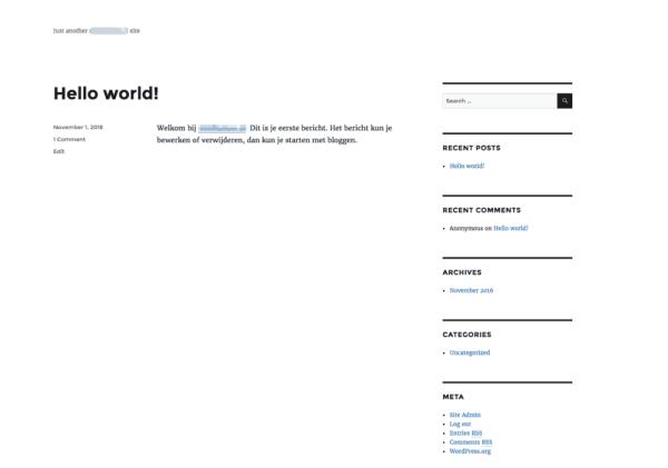 Eigen WordPress blog beginnen