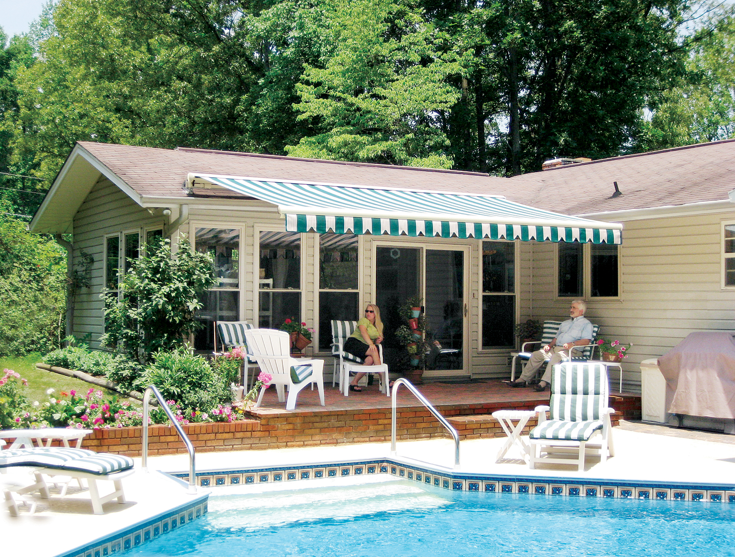 Betterliving fabric shades marketing patio cover recent posts sunrooms - Retractable Awning By Betterliving Awnings Of Pittsburgh