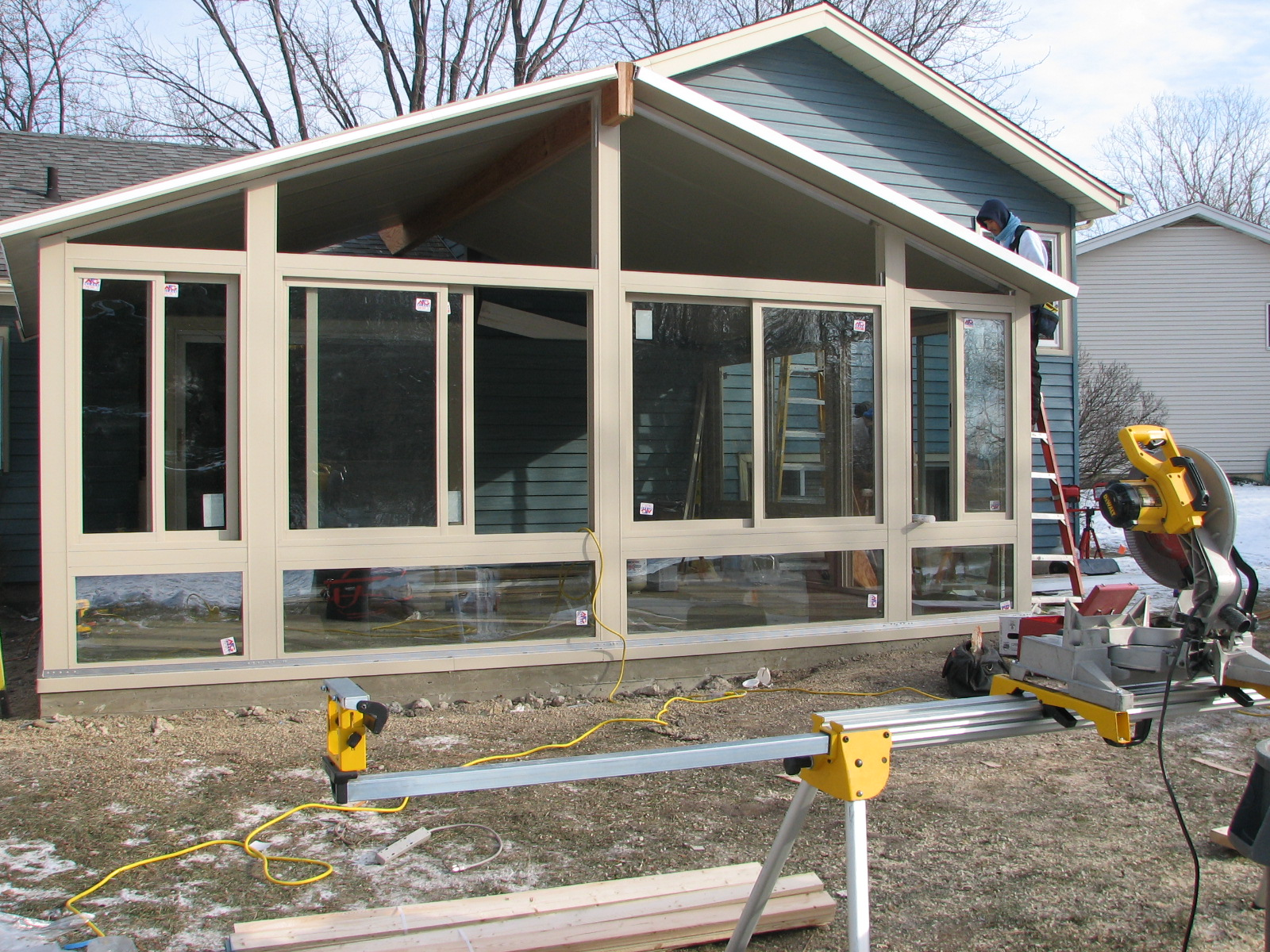 BETTERLIVING SUNROOMS DURING CONSTRUCTION