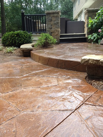 After Photo of Stone Patio and Step