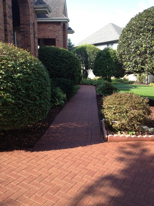 After Photo of Stone Pathway
