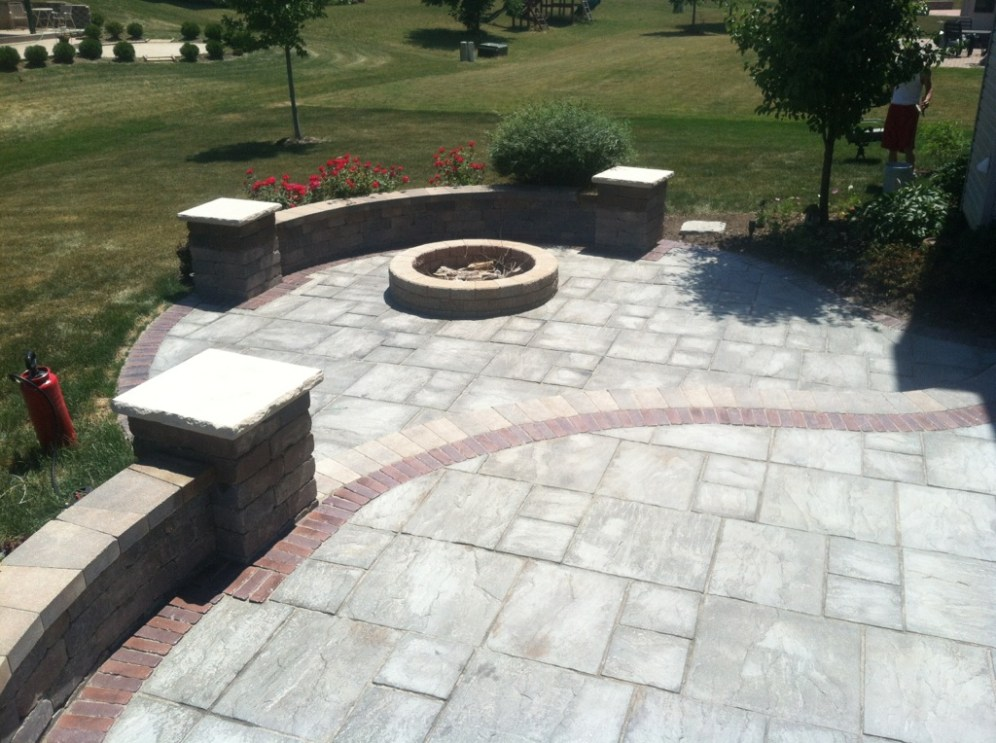 Before Photo of Fire Pit Area
