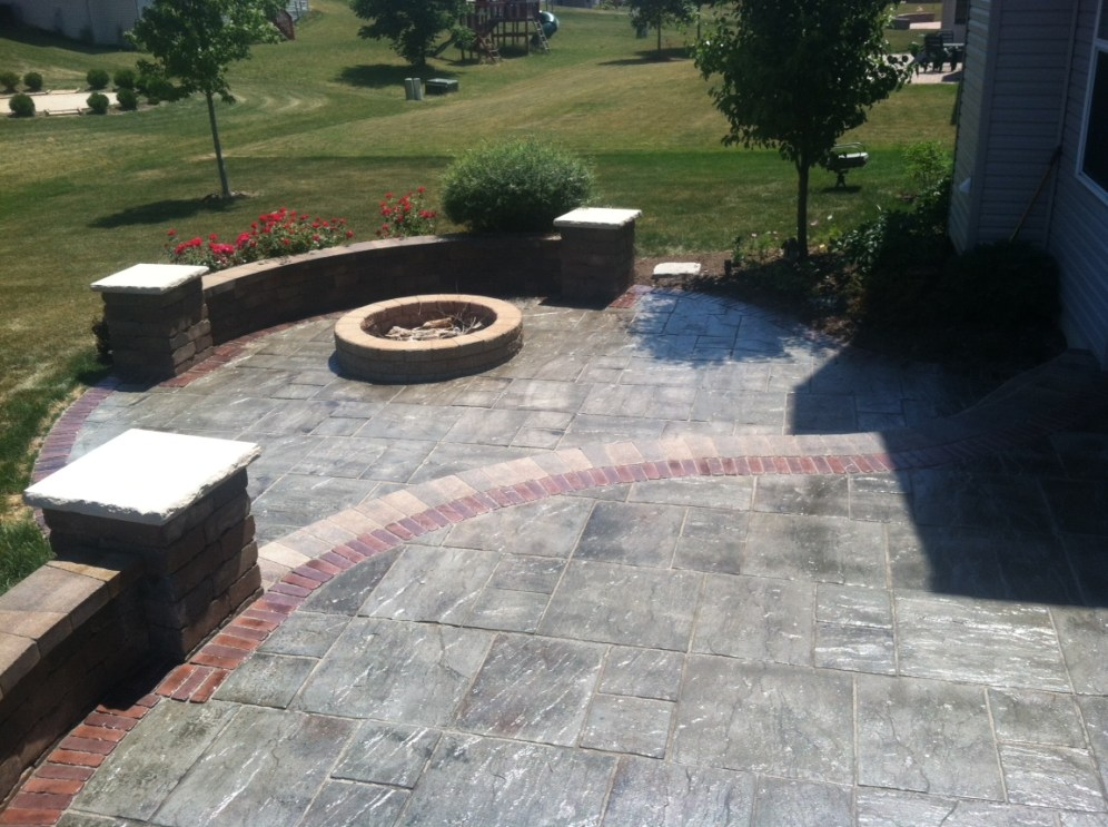 During Photo of Fire Pit Area