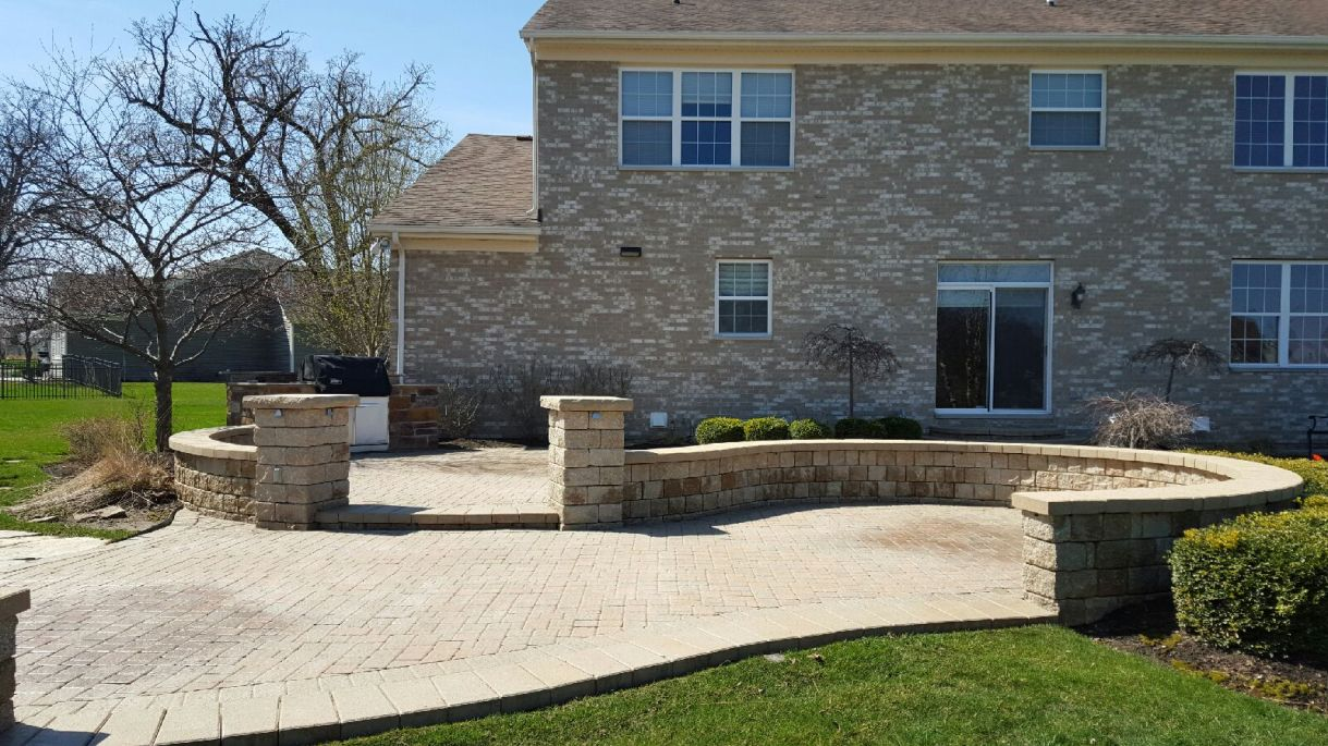 Before Photo of Stone Entrance Way