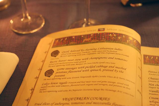 menu lokys