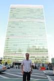 James Bond in United Nations Plaza, New York, NY
