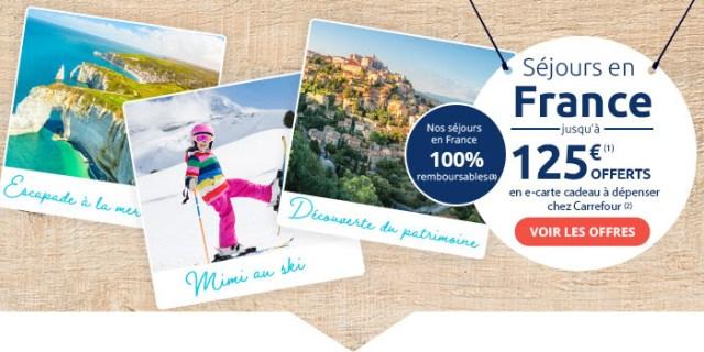 Carrefour Voyages - Offre 125€ remboursés