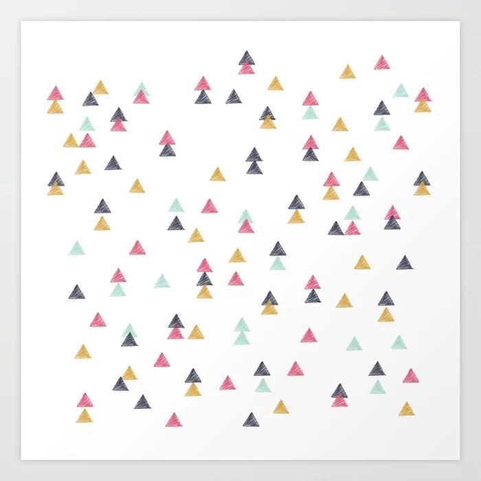 Sunday's Society6 | Colorful random triangle pattern