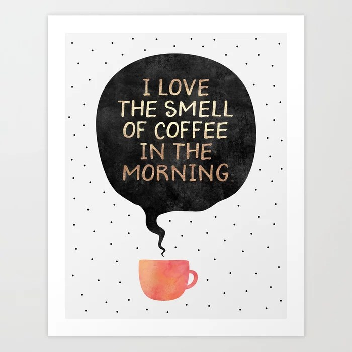 Sunday's Society6 | Coffee art print
