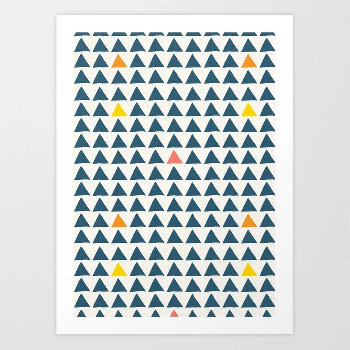 Sunday's Society6 | SImple triangle pattern