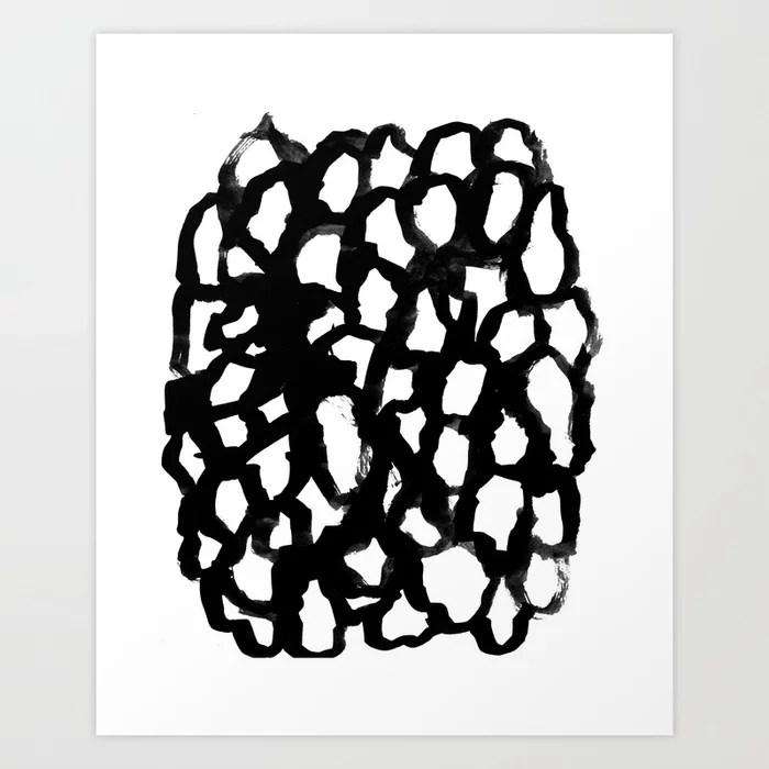 Sunday's Society6 | Black and white painting art print