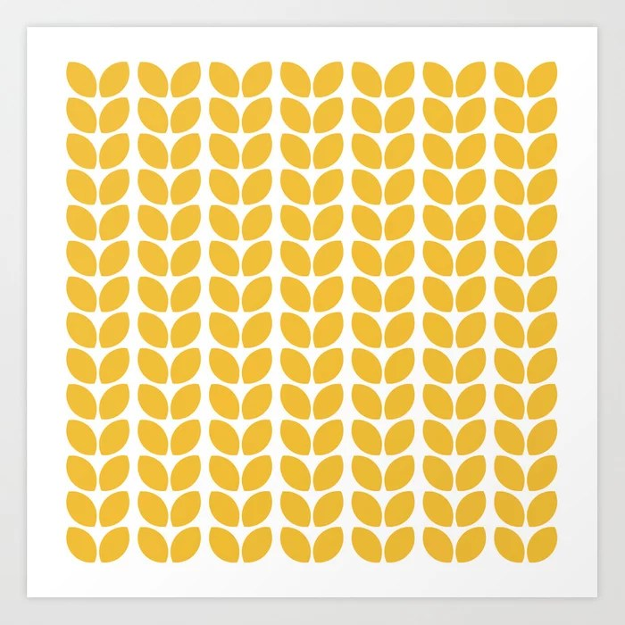 Sunday's Society6   Yellow leaves pattern