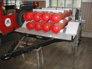 передвижной углекислотный огнетушитель ОУ 400