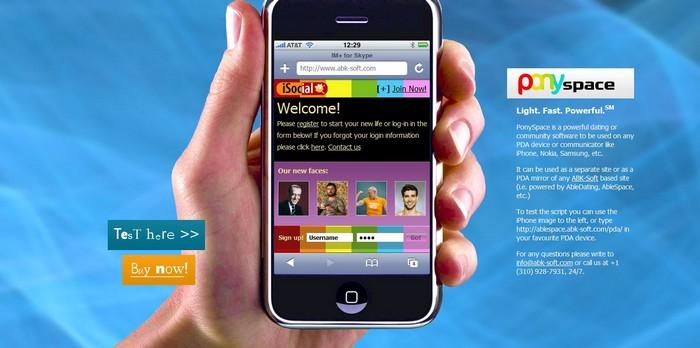 Réseau social sur téléphone mobile & smartphone
