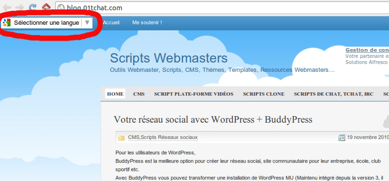 Internationalisation de Script-Webmaster