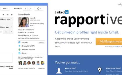 Rapportive LinkedIn
