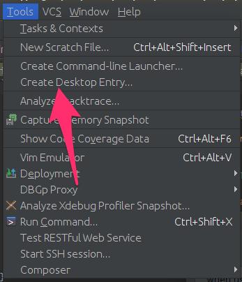 Créer un raccourci/lanceur pour PHPStorm