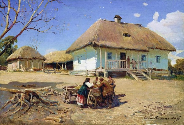 Russian Village Paintings