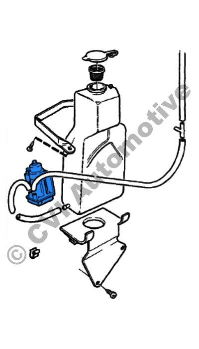 Washer pump front, 140/164/240 74-80 (genuine Volvo/VDO