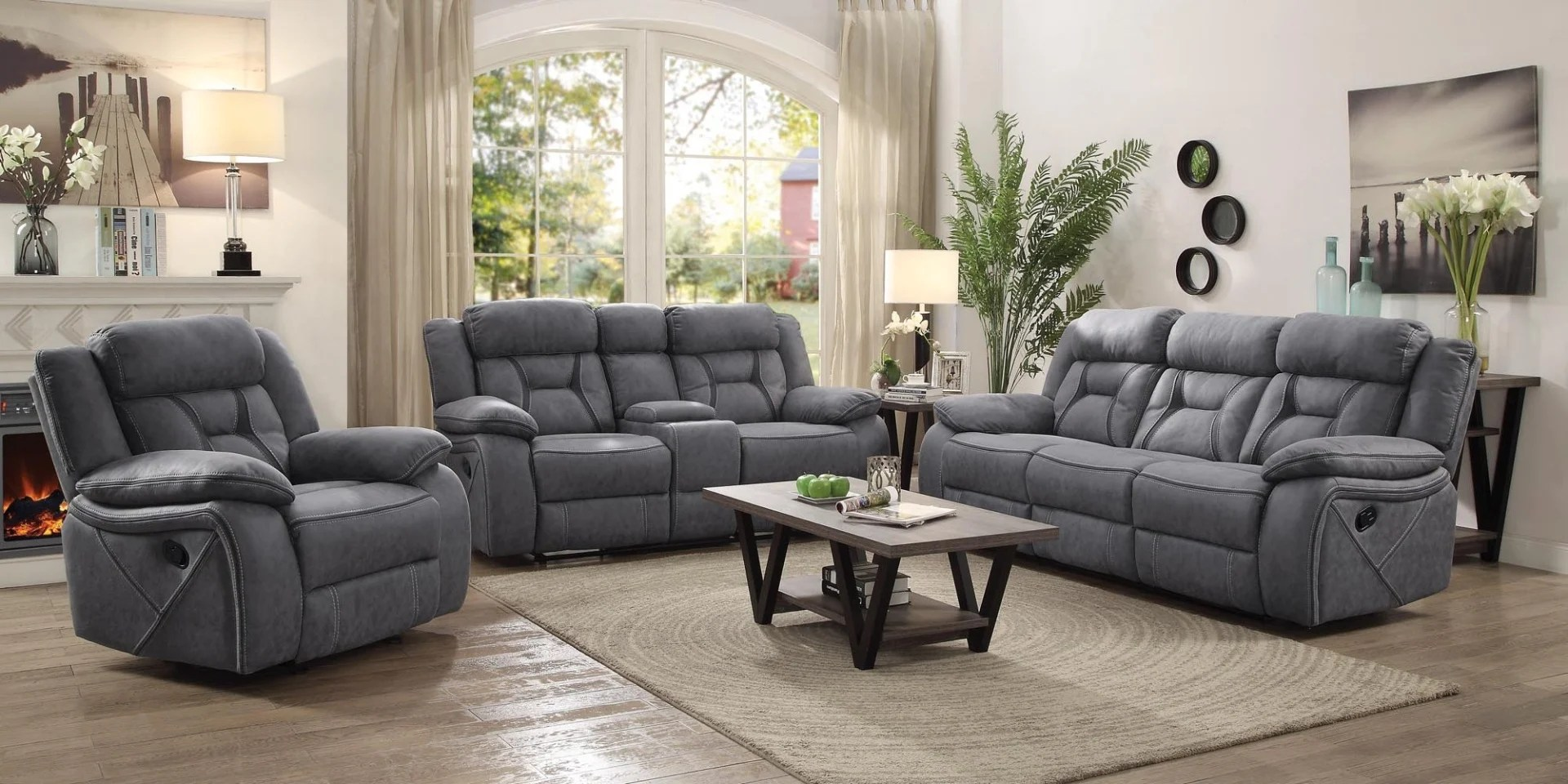 liberty 2 piece sofa and motion loveseat group in grey macys leather furniture clearance center groups