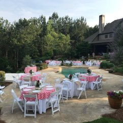 Chair Cover Rentals Montgomery Al Over Tables Elderly Tent Package Prattville Rental Packages Kayla S Event Backyard Party Setup