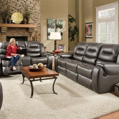 Liberty 2 Piece Sofa And Motion Loveseat Group In Grey Italian Brands Furniture Clearance Center Groups
