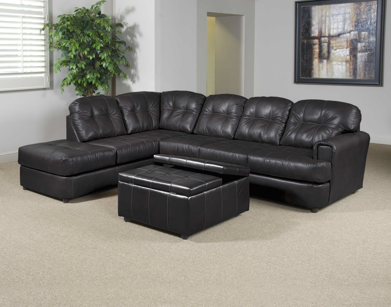 montreal sectional sofa in slate dark brown leather furniture clearance center sectionals