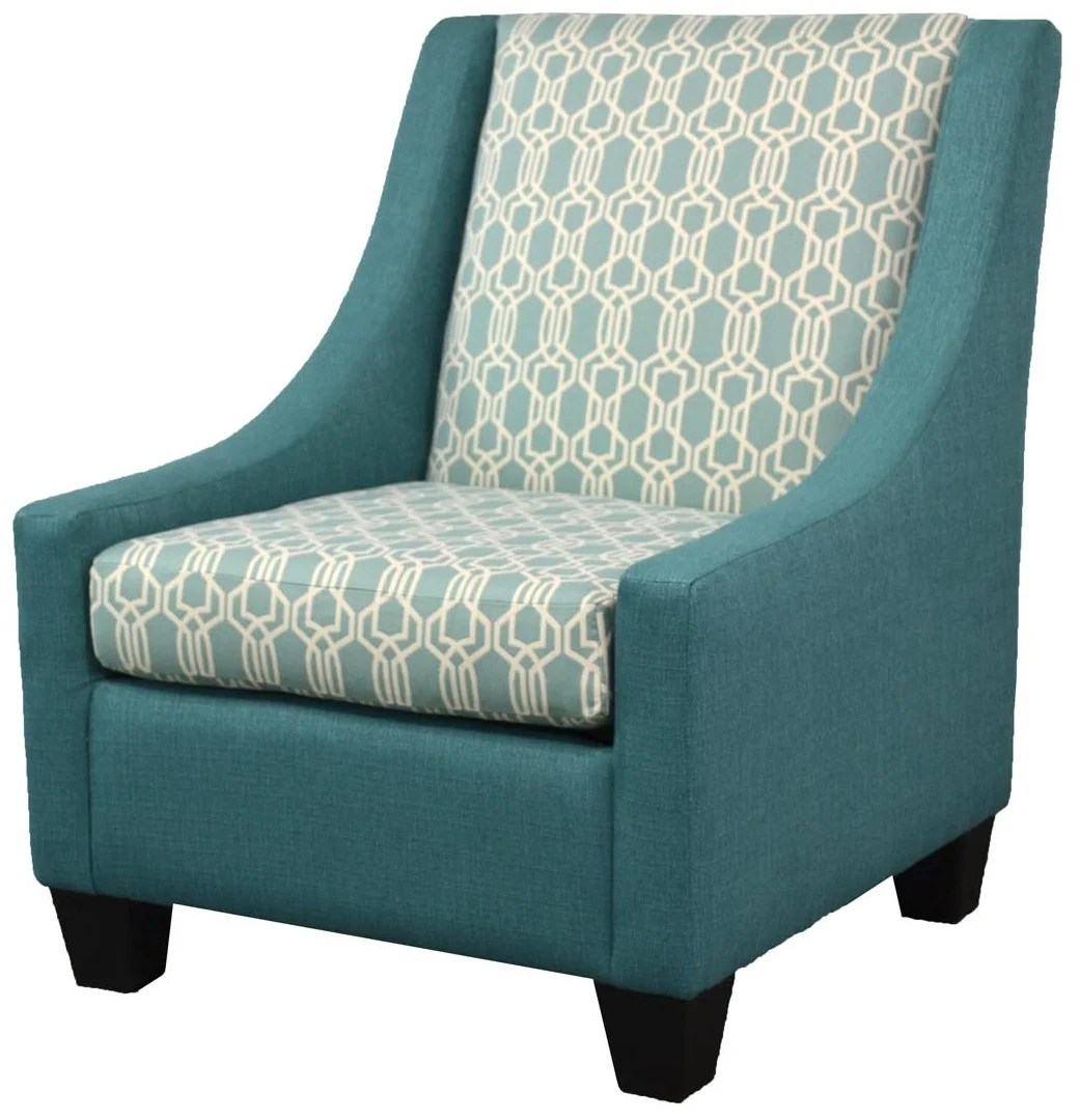 Aqua Accent Chair Coastal Dining Chairs Furniture Clearance Center