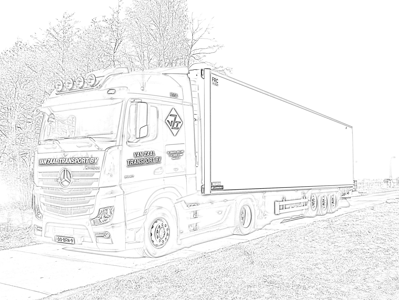 Kleurplaten: Kleurplaat Scania