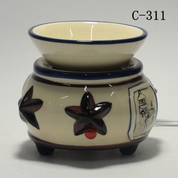 Ceramic Electric Scent Oil Tart Diffuser Warmer Burner