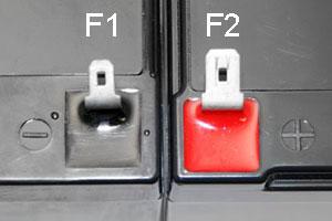 F1 F2 Battery Terminals