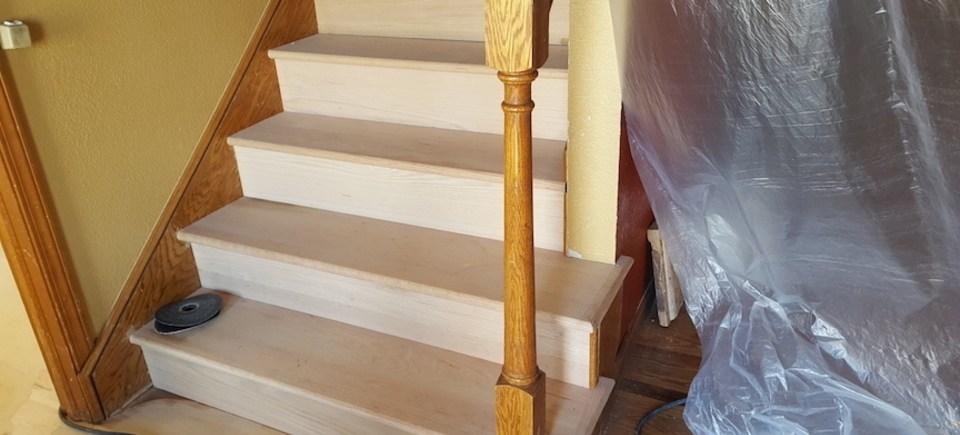 Roper Hardwood Floors Stairs Balusters – Handrails – Tulsa Ok   Hardwood Handrails For Stairs   Brown   Tree Shaped Stair   Balustrade   Indoor   Handrail