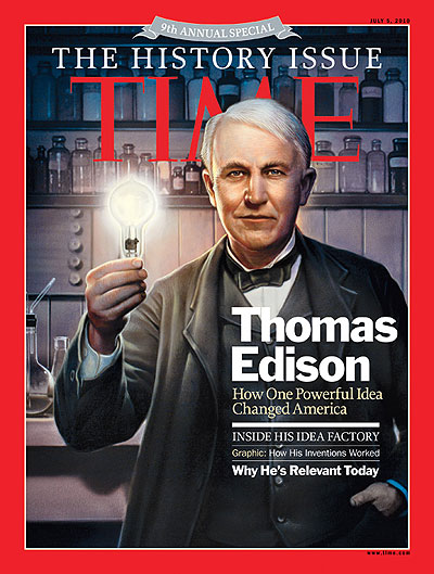 Edison on cover of 2012 Time history issue