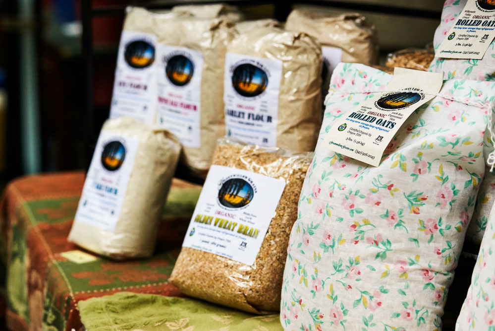 Stone-ground flours from Greenwillow Grains in Oregon