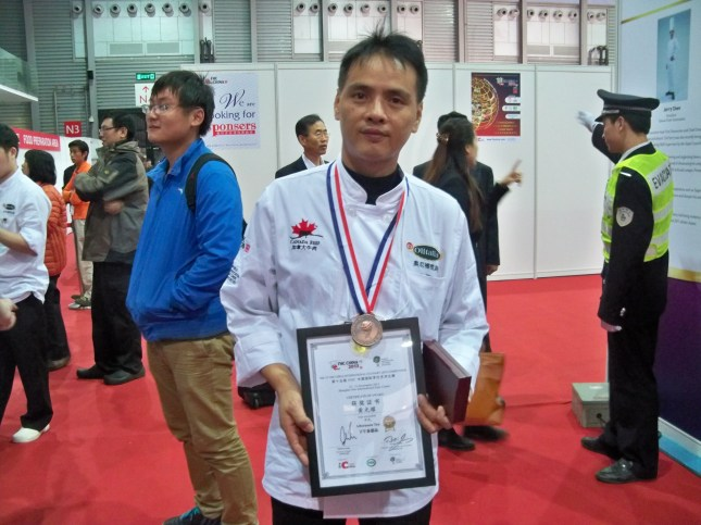 黃光耀老師下午茶甜品獲得銅獎