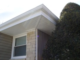 After window soffit facia gutters