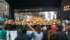 Live brass band covering Adele!