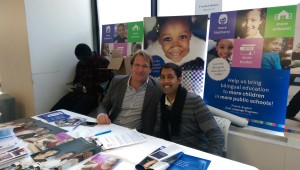 with Fabrice Jaumont @ the annual bilingual education expo, Hunter College