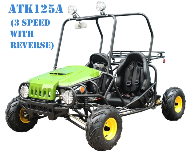125 cc ; 3 SPEED SEMI AUTOMATIC TRANSMISSION W/REVERSE ;TWO SEAT