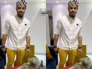 Ozo Causes Stir On Social Media As He Wore Leggings To An Event (Photo)