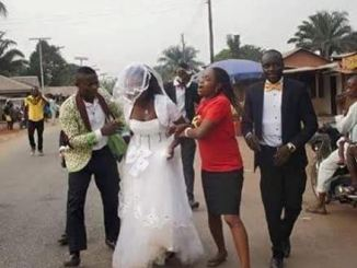 VIDEO- Brides Flees From Church After Finding Out Her Husband-To-Be Is Married With Kids
